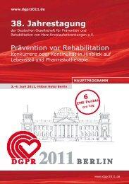 38. Jahrestagung - Rückblick DGPR 2010