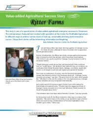 Value-added Agricultural Success Story Ritter Farms J - Institute of ...