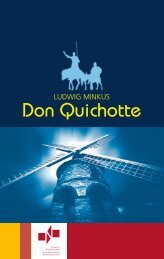 Programmheft - Don Quichotte - Theater Nordhausen