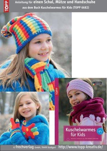 Anleitung für einen Schal, Mütze und Handschuhe aus dem ... - Topp