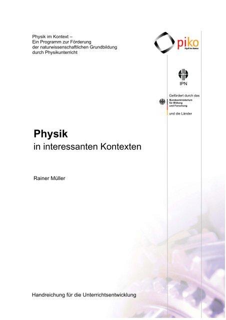 Technik im Physikunterricht - Technische Universität Braunschweig