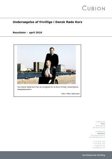 Undersøgelse af frivillige i Dansk Røde Kors - Aarhus.dk