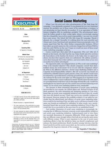 Social Cause Marketing - The Regis Group Inc