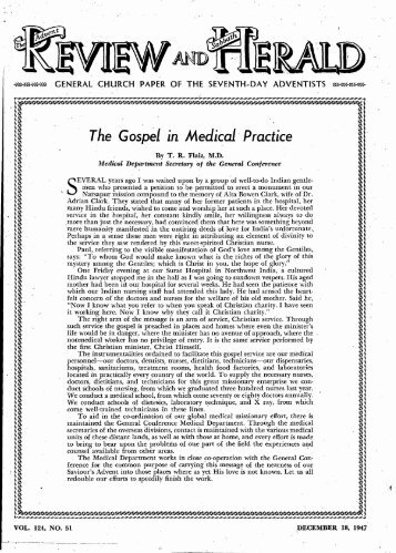 Tke Gospel in Medical Practice