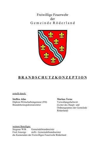 brandschutzkonzeption - Gemeinde Röderland