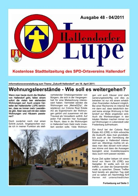 Wohnungsleerstände - Wie soll es weitergehen? - SPD Hallendorf