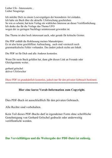 eine kurze Vorab-Information zum Copyright.