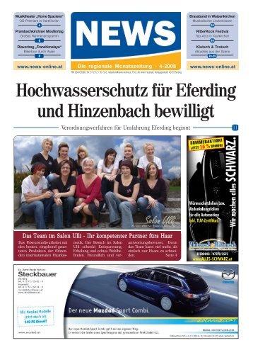 Hochwasserschutz für Eferding und Hinzenbach ... - NEWS-ONLINE.at