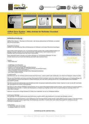Bubendorff mono id2 solar rollladen mit funk abc Antrieb fur markisen