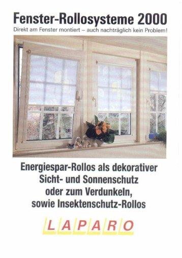 LAPARO Fenster- Rollosystem