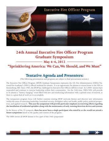 24th Annual Executive Fire Officer Program Graduate Symposium ...