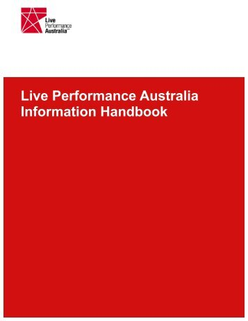 Our Activities & Services - Live Performance Australia