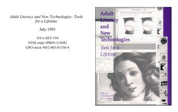 Adult Literacy and New Technologies - Federation of American ...