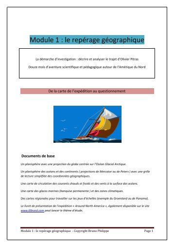 Module 1 : le repérage géographique - 69 Nord