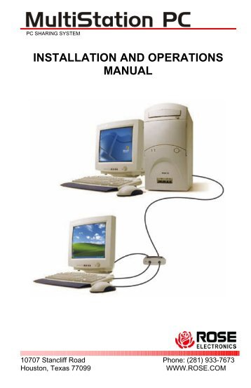installation and operations manual - Rose Electronics