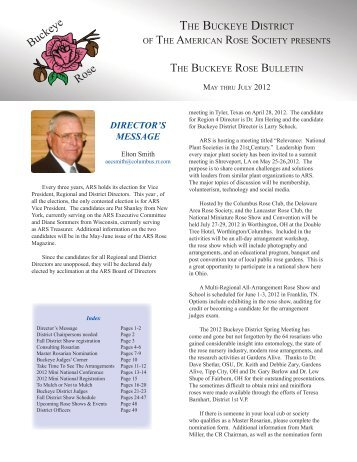 Spring 2012 - Buckeye District