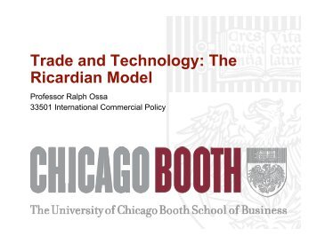 Trade and Technology: The Ricardian Model - Faculty