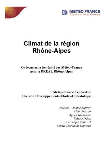 Etude du climat de la région Rhône-Alpes - Schéma Régional Air ...