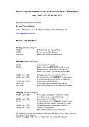 Seminarbeschreibung und Anmeldeformular - Norbert Glaab