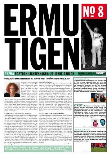 Ermutigen No. 8 (Zeitung, PDF) - Amadeu Antonio Stiftung