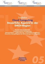 Leitfaden Cloud Computing Steuerliche Aspekte in der DACH-Region