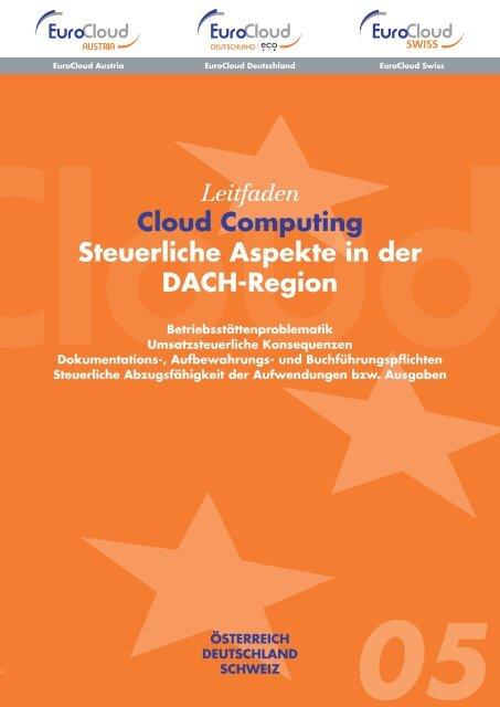 Leitfaden Cloud Computing Steuerliche Aspekte in der DACH-Region