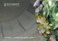 """auktion 3 """"porzellan, silber, uhren"""" - Schmidt Kunstauktionen Dresden"""