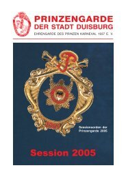 gegr. 1937 - Prinzengarde der Stadt Duisburg