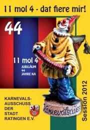 KAHeft 2012 - Karnevalsausschuss der Stadt Ratingen eV