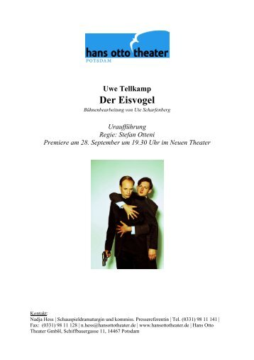 Stefan Otteni Premiere am 28. September um ... - Hans Otto Theater