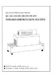 INFRARED SHRINK PACKING MACHINE - Rotek