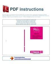 Istruzioni per l'uso SAECO ROYAL COFFEE BAR - ISTRUZIONI PDF