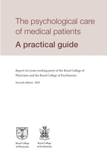 The psychological care of medical patients A practical guide