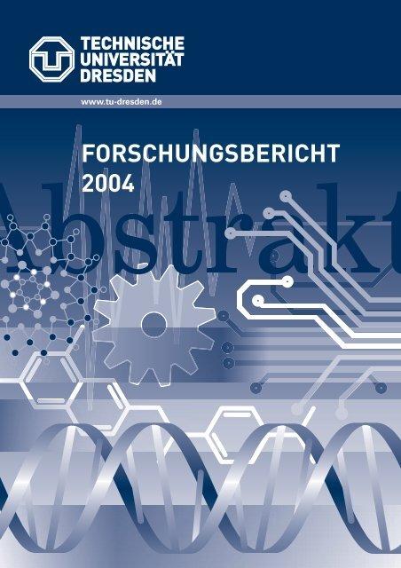 FORSCHUNGSBERICHT 2004 - Fachrichtung Chemie und ...