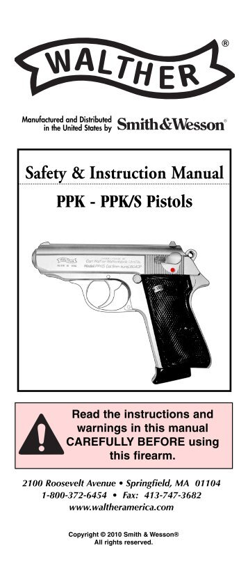 walther p22 manual smith wesson rh yumpu com Walther PPK S 380 Parts Walther PPK Silencer