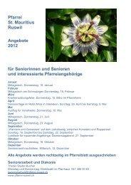 Pfarrei St. Mauritius Ruswil Angebote 2012 für Seniorinnen und ...