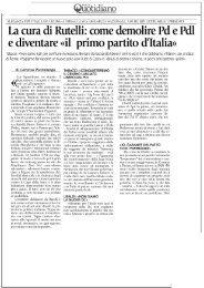 cura di Rutelli: come demolire Pd e - Italia Migliore Home page