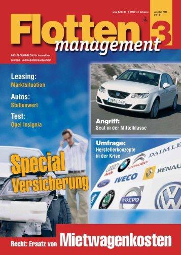 Leasing: Autos: Test: Recht: Ersatz von Mietwagenkosten - Flotte.de