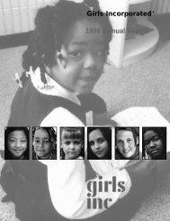 Annual Report 1998 - Girls Inc.