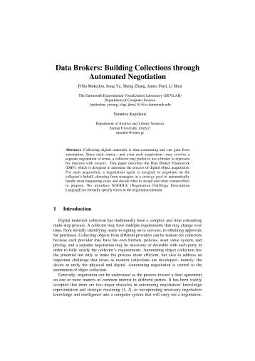Data Brokers: Building Collections through Automated ... - CiteSeerX