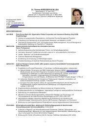 Curriculum Vitae - Thomas Roediger-Schluga