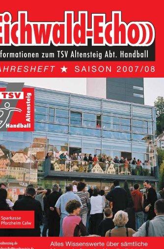 Informationen zum TSV Altensteig Abt. Handball