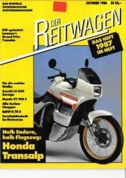 Der Reitwagen Oktober 1986 - Motorradreporter