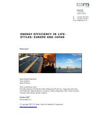 energy efficiency in life- styles: europe and japan - EU-Japan Centre ...