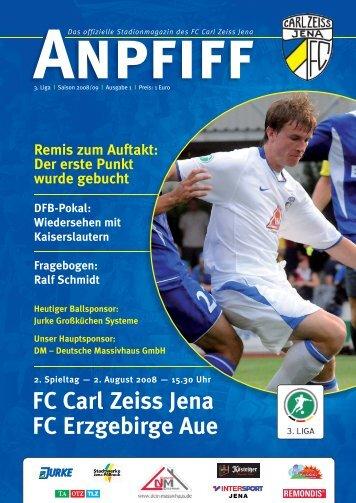 FC Carl Zeiss Jena FC Erzgebirge Aue