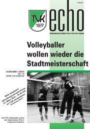 TVK-Echo 1/2012 - Turnverein 1877 eV Essen-Kupferdreh