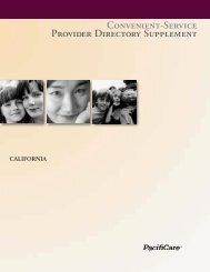 Convenient-Service Provider Directory Supplement - Pacificare ...