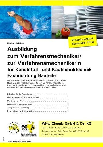 Ausbildung zum Verfahrensmechaniker - Witty Chemie GmbH & Co ...