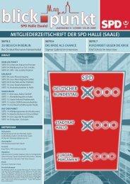 MITGLIEDERZEITSCHRIFT DER SPD HALLE (SAALE) - Hilfe und Info