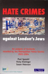 Hate Crimes against London\'s Jews - Institute for Jewish Policy ...